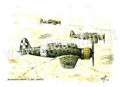 Aer. Macchi C.200 Saetta, Aerei militari, Schede tecniche aerei militari italiani e storia degli aviatori