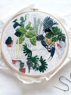 De botanische borduursels van Sarah K. Benning - Mooiwatplantendoen.nl