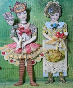 Catherine Moore, love her stamps, I have so many. Can't get enough of this lady's art stamps. They are so fun!