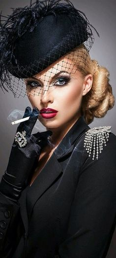 Fashion,Beauty,Landscape,Home Designe,Sexy Girls. Smoking Ladies, Girl Smoking, Steampunk Mode, Foto Glamour, Vintage Outfits, Vintage Fashion, Portrait Photography, Fashion Beauty, Pin Up
