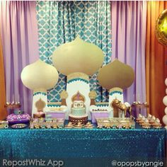 Jasmin Aladdin party decor