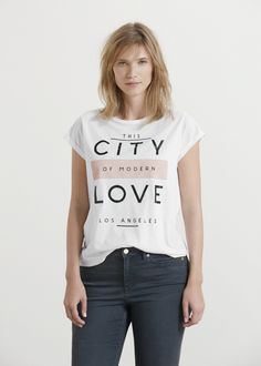 Message cotton t-shirt