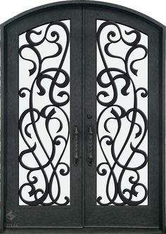 double white wrought iron gate | ... IRON DOORS :: Wrought Iron Doors :: Double…