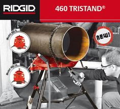 Stand Up To Tough Welding Threading And Grooving Demands Ridgid Has New Portable Chain Vice Stands For Up To 12 Diameter Jobsite Welding Stand Up