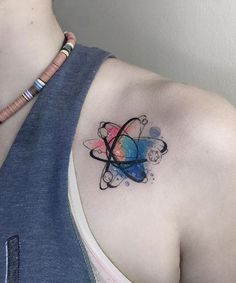 Cute Science Inspired Shoulder Tattoo for Women