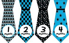 Baby Tie Month Stickers Monthly Tie by LittleLillyBugDesign, $9.00