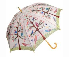 Coyne's Company Owl on Ivory Cane Umbrella Auto Open COYNESSA1410 Umbrella NEW #CoynesCompany