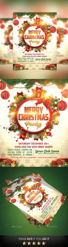 Christmas Flyer Template PSD #design Download: http://graphicriver.net/item/christmas-flyer/13831967?ref=ksioks