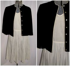 Vintage 50's 60's / Dress Suit with Matching Wool by CicelysCloset