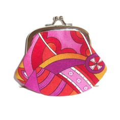 Fabric Coin Purse  Retro colour and pattern  by moodycowdesigns, $12.00