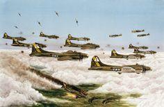 Vintage Aviation Art   WWII Aviation