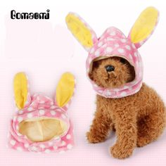 Gomaomi Lovely Rabbit Ears Shape Dog Hat Pet Supplies(China (Mainland))