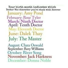 I get the 11th Doctor I am pretty sure I win at life well I'd be winning more if it was 10...