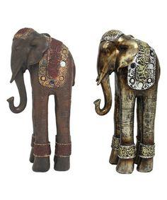 Another great find on #zulily! Tall Elephant Figurine Set #zulilyfinds