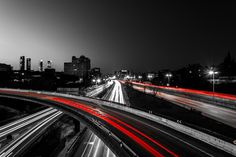 Autopista en rojo (III) by Álvaro Hurtado on 500px Hurtado, Hero Wallpaper, Night Photos, Long Exposure, Nocturne, Exhibitions, Blanco Y Negro, Projects