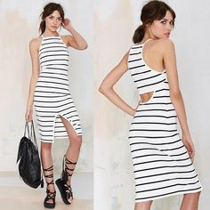 New Sexy Women's Summer Casual Backless Party Evening Cocktail Short Mini Dress #Unbranded #EmpireWaist #Casual