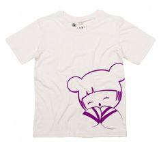 Camiseta 100% de algodón orgánico certificado GOTS estampado con tintas respetuosas con el medio ambiente. Ideal para niñas con pieles sensibles.