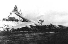 Crash landing of a B-29.