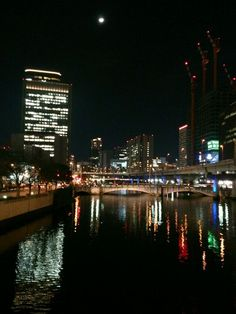 #Citylights #landscape #night in Osaka, Japan, March 6, 2014