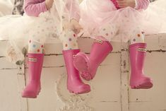 Tutus. Leggings. Hunter Boots. I'm in love! She and I definitely need matching Hunter boots!