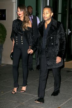 Chrissy Teigen and John Legend step out in a surprisingly chic coordinated look.