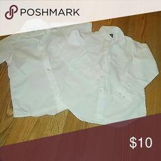 Boy's Uniform Shirt Two boy's uniform shirts one short sleeve one long sleeves gently used condition , the short sleeve is size 7 youth the long sleeve is size 6 Shirts & Tops Button Down Shirts