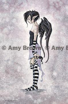 Amy Brown: Fairy Art - The Official Gallery Fairies - Fée - Fee- Fe - Hadas - Fairy Mehr Fairy Dragon, Amy Brown Fairies, Brown Artwork, Fantasy Art, Mystical Creatures, Fairy Pictures, Art, Fairy Art, Gothic Fairy