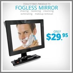Are you struggling with a foggy mirror, when you could enjoy the luxury of a perfect view in steam bath? Well, then ToiletTree Products' Fogless Mirror is the right accessory to your bathroom. Our fogless shower mirror features an unbreakable design, and fog-free coating making it a safe, and perfect choice for shave in steamy bathroom. So, expedite your morning routine, without cutting any corners, with this fogless mirror with built in squeegee now.