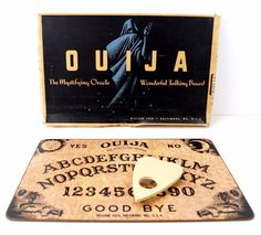 DESCRIPTION A perfect, hard-to-find original Ouija board with planchette for your collection! This original Ouija board is from the late to early prior to being sold to Parker Brothers (w Vintage Board Games, My Childhood Memories, Childhood Toys, Sweet Memories, Childhood Photos, Frame Wall Decor, 90s Kids, Old Toys, Supernatural