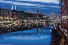 Schlachte Bremen - 2.2.2014 - Weser spiegelglatt