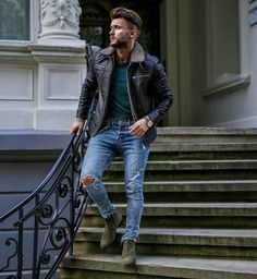 @menaboutfashion - #leather #leatherpants #leatherjacket #meninleather #biker #bikerpants #gay #instagay #instamood #leathermen #style #guyswithstyle #trend #fashiontrend #fashion #mensfashion #swag #sneakers #swagfashion #streetwair #streetwairfashion #m