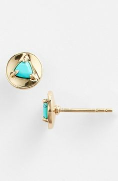 Turquoise Pod Stud Earrings