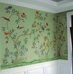 hand painted wallpaper, silk wallpaper, china wallpaper, grace silk wallpaper panel, chinoiserie style wallpaper, handmade wallpaper, exlusi...
