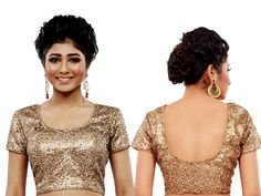 Glistening sliver color fancy fabric choli is beautified with sequins work. item Code : BKDUP6 http://www.bharatplaza.com/accessories/designer-cholis.html