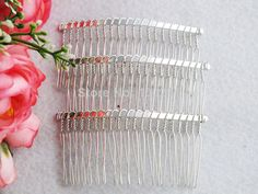 Free shipping !!! Bluk 100pcs/lot DIY Wire silver tone plated hair comb, 20 Teeth MN-1838 $55.00