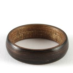 Ebony Wooden Wedding Ring For A Man by Harestree on Etsy