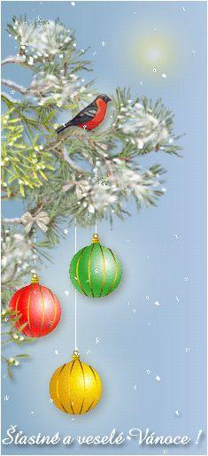 Animovaná vánoční přání | Obrázky, animace ke stažení zdarma Mobiles, Christmas Bulbs, Holiday Decor, Christmas Light Bulbs, Mobile Phones