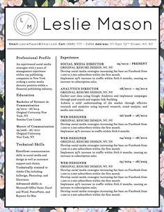 the best resume templates 2015