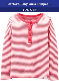Carter's Baby Girls' Striped Henley (Baby) - Orange - 3 Months. Carter's Striped Henley (Baby) - Orange Carter's is the leading brand of children's clothing, gifts and accessories in America, selling more than 10 products for every child born in the U.S. Their designs are based on a heritage of quality and innovation that has earned them the trust of generations of families.