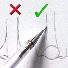 Drawing Tips nose drawing Eye Drawing, Art Drawings Simple, Sketches, Art Sketchbook, Art Tips, Art Sketches, Art Tutorials, Nose Drawing, Art Drawings Sketches Simple