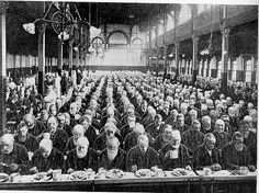 dinner in the workhouse 1901