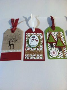 Christmas Tag Class by stampingcrazykitty - Cards and Paper Crafts at Splitcoaststampers