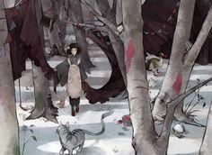 「雪の日のアリス」その日は雪が、雪がつもっていました。モチーフは童話 「不思議の国のアリス」です。 Art by Nekosuke