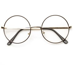 Vintage lennon inspired clear lens round frame glasses 9222 (€12) ❤ liked on Polyvore featuring accessories, eyewear, eyeglasses, glasses, sunglasses, acc, accessories - glasses, vintage clear glasses, vintage eyeglasses and circular glasses