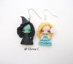 Glinda and Elphaba commission por ElviraCCreazioni en Etsy