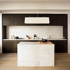 vincent van duysen / marble and wood kitchen