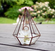Wedding Ring Holder - Wedding Ring Pyramid - Mini Glass Geometric Box by NojaGlassDesign on Etsy https://www.etsy.com/au/listing/294266437/wedding-ring-holder-wedding-ring-pyramid
