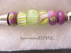 Spread Knife Cheese Canape server Lampwork Beads by idzyne on Etsy