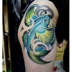 Flyfish tattoo