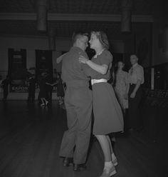 MIKAN 4328423: Winnipeg, 1940's. Unidentified Couple Dancing .